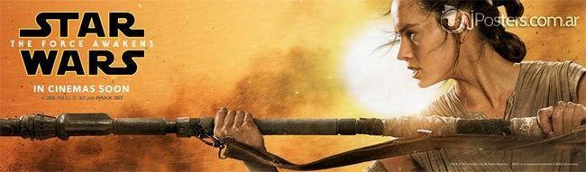 STAR WARS la fuerza despierta el cartel remolque pancarta tv posterior Han Solo leia Luke Skywalker Rey Finn s Kylo