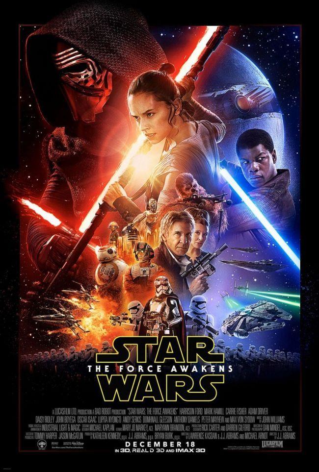 Guerra de las galaxias: la fuerza despierta desglose del cartel